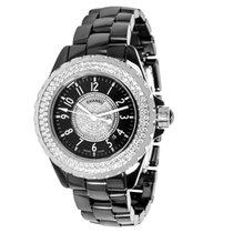 Chanel J12 H1708 Women's Watch in Ceramic and Diamonds