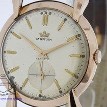 Marvin 18 Karat Rosegold Vintage Watch Cal. 520 Teardrop Lugs...