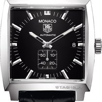 TAG Heuer Men's Monaco Automatic Leather Strap Watch...