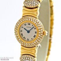 Cartier Colisee 18k Yellow Gold Full Diamond Setting Bj-1995