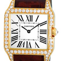 "Cartier Diamond ""Santos Dumont"" Strapwatch."
