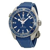 Omega Planet Ocean GMT Blue Dial Blue Rubber Men's Watch...