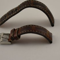 Breitling Kroko Leder Armband Band 16mm 16-14 Mit Dornschliess...