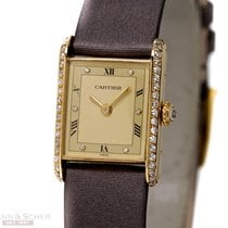 Cartier Tank Lady Louis Cartier 18k Yellow Gold Diamond Set...