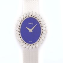 Piaget White Gold Marquise Diamond Lapis Bracelet Watch