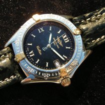 Breitling Callisto B64046 Schwarzes Zifferblatt Steel Gold