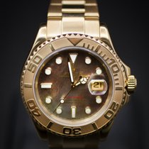 Rolex Mens Yachtmaster Yellow Gold - with MOP Dial