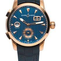 Ulysse Nardin Classic Dual Time 18K Rose Gold Men's Watch