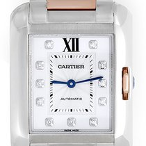 Cartier Tank Anglaise Stainless Steel and Rose Gold Men's/...