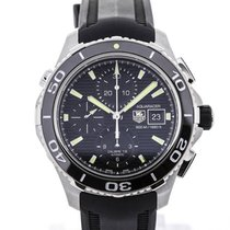 TAG Heuer Aquaracer Chronograph Black Rubber Strap Black Dial
