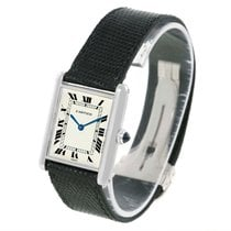 Cartier Tank Classic Paris 18k White Gold Ultra Thin Mechanica...