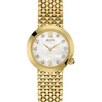 Bulova Ladies 10 Diamond Maiden Lane Dress Watch - Gold-Tone -...