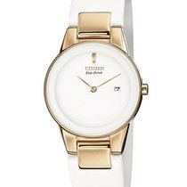 Citizen Eco-Drive Axiom Ladies Strap Watch - White Dial - Rose...