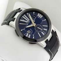 Ulysse Nardin Executive Dual Time 243-00 Blue Stainless Steel...