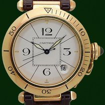 Cartier Pasha 38mm Automatic 18k Yellow Gold Box&Papers