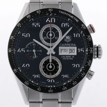 TAG Heuer Carrera Chronograph Day Date Stahl Automatik 43mm