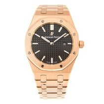 Audemars Piguet New  Royal Oak 18k Rose Gold Dark Grey Quartz...