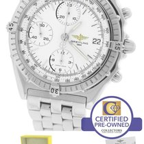 Breitling Chronomat Chronograph Stainless Steel White A13352 39mm