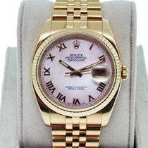 Rolex Datejust 116238 18K  Gold Mens Watch