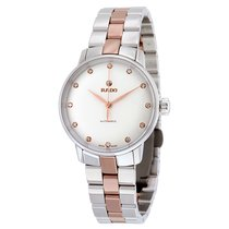 Rado Ladies Coupole Classic Silver Dial Two-tone Watch