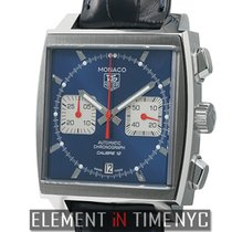 TAG Heuer Monaco Chronograph Stainlesss Steel Blue Dial...