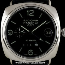 Panerai 18k W/G Radiomir 10 Days Power Reserve GMT B&P...
