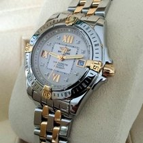 Breitling Cockpit Galactic Lady Gold Steel Diamond Dial 32 mm