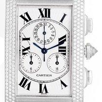 Cartier Tank Americaine Chronograph Men's/Ladies 18k White...