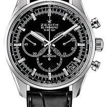 Zenith El Primero 36'000 VpH Black Dial 42mm Watch with...