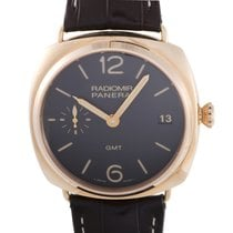 Panerai Radiomir 3 Days GMT Oro Rosso Manually Wound Watch...