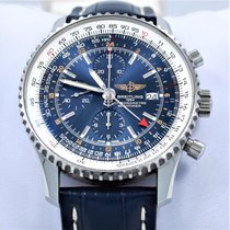 Breitling Navitimer A24322 Chronograph World Gmt 46mm Blue...