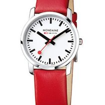 Mondaine Ladies Simply Elegant Watch - Red Leather Strap -...