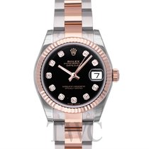 Rolex Datejust Lady 31 Black Steel/18k rose gold Dia 31mm -...