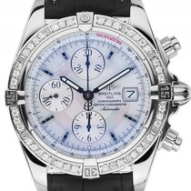 Breitling Chronomat Evolution Chronograph Custom Stahl Diamond...