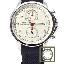 IWC Portuguese Yacht Club Chronograph 43.5mm White Dial NEW