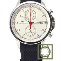 IWC Portuguese Yacht Club Chronograph 43.5mm White Dial NEW