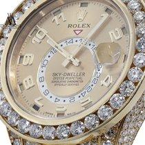 Rolex Sky-dweller 18k Yellow Gold 42mm Champagne Arabic Dial...