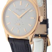Patek Philippe Calatrava 5196 18K Rose Gold Mens Watch with...