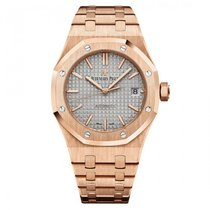 Audemars Piguet Royal Oak Nickel Grey Dial 18K Solid Rose Gold...
