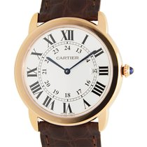 Cartier Ronde Solo De Cartier 18k Rose Gold And Steel White...