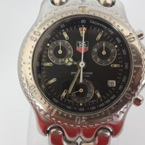 TAG Heuer SEL Chronograph Stainless Steel Black Dial CG1110-0
