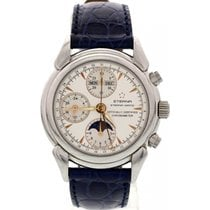 Eterna Matic 1948 Moonphase Triple Date Stainless Steel Watch...