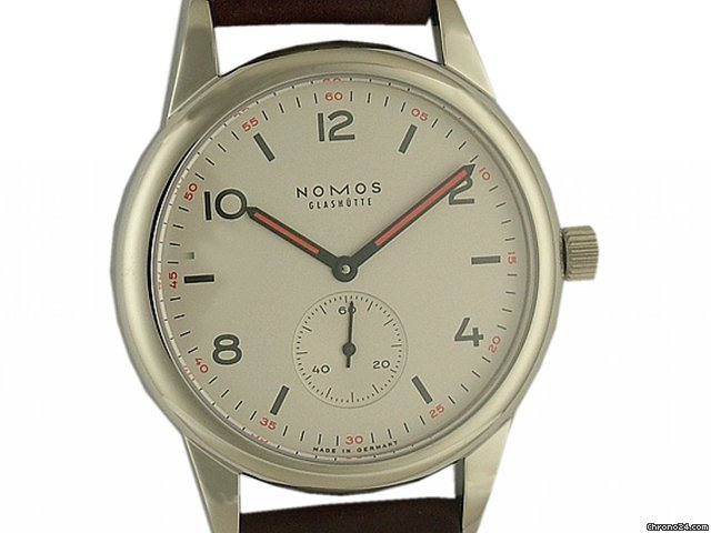 Nomos Glashtte Club Hell Automatik Glasboden 40mm