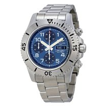 Breitling Superocean Chronograph Blue Dial Men's Watch...