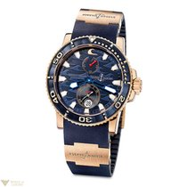 Ulysse Nardin Blue Surf Chronometer Rubber 18k Rose Gold...
