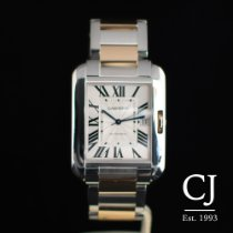 Cartier Tank Anglaise XL Steel & Rose / Pink Gold