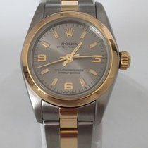 Rolex Oyster Perpetual 26mm 18K/SS  Oyster Band  Grey Dial