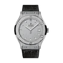 Hublot Classic Fusion 45mm Quartz Titanium Mens Watch Ref...
