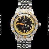 Zodiac Sea-Wolf, Original Band, Bakelite Bezel Rare Diver - 1960s