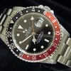 Rolex Gmt-master Ii Date Stainless Steel Watch Black/red Coke...